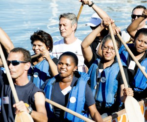 Employees took part in the dragon boat challenge
