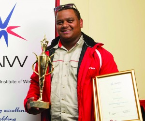Champion welder, Houston Isaacs says that the SAIW and welding changed his life..jpg