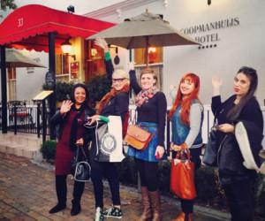 bloggers exploring #Stellenblog (L.t.r)Fazielah Williams, Allison Foat, Nadia Krige, Kirsten Duff, Talya Goldberg LR.jpg